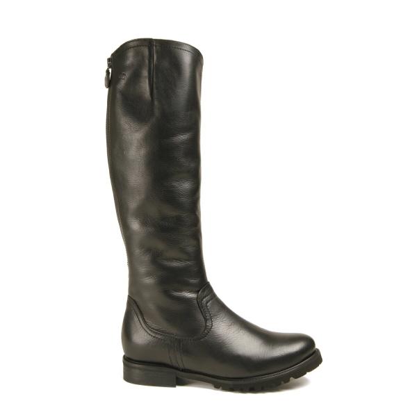 cuir noir Bottines d'agneau lisse 37 en cuir Gr New Donna Carolina wYxxqT74O