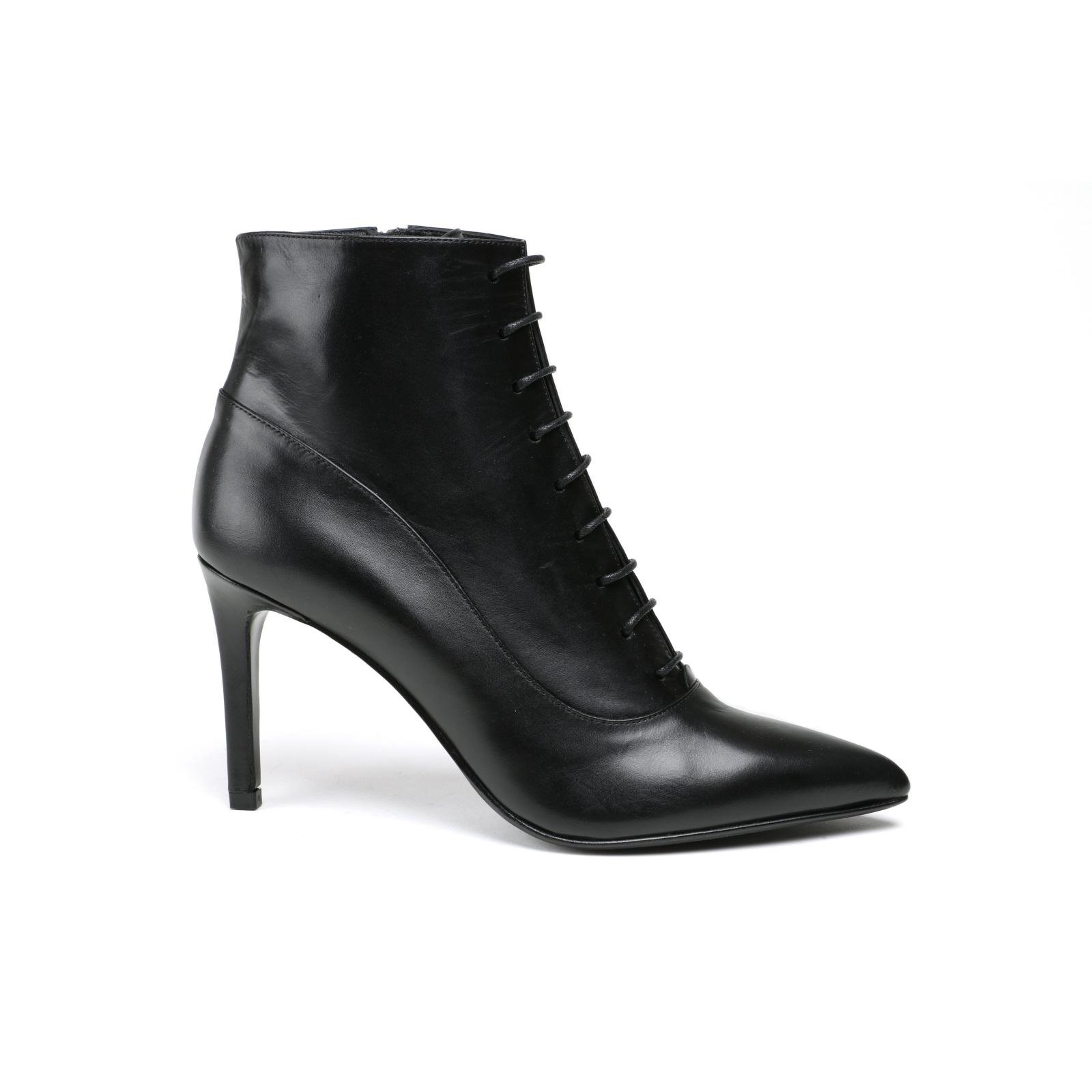 Damen Stiefelette Alberto Zago Elegant schwarz  Glattleder NEU Gr.38,5