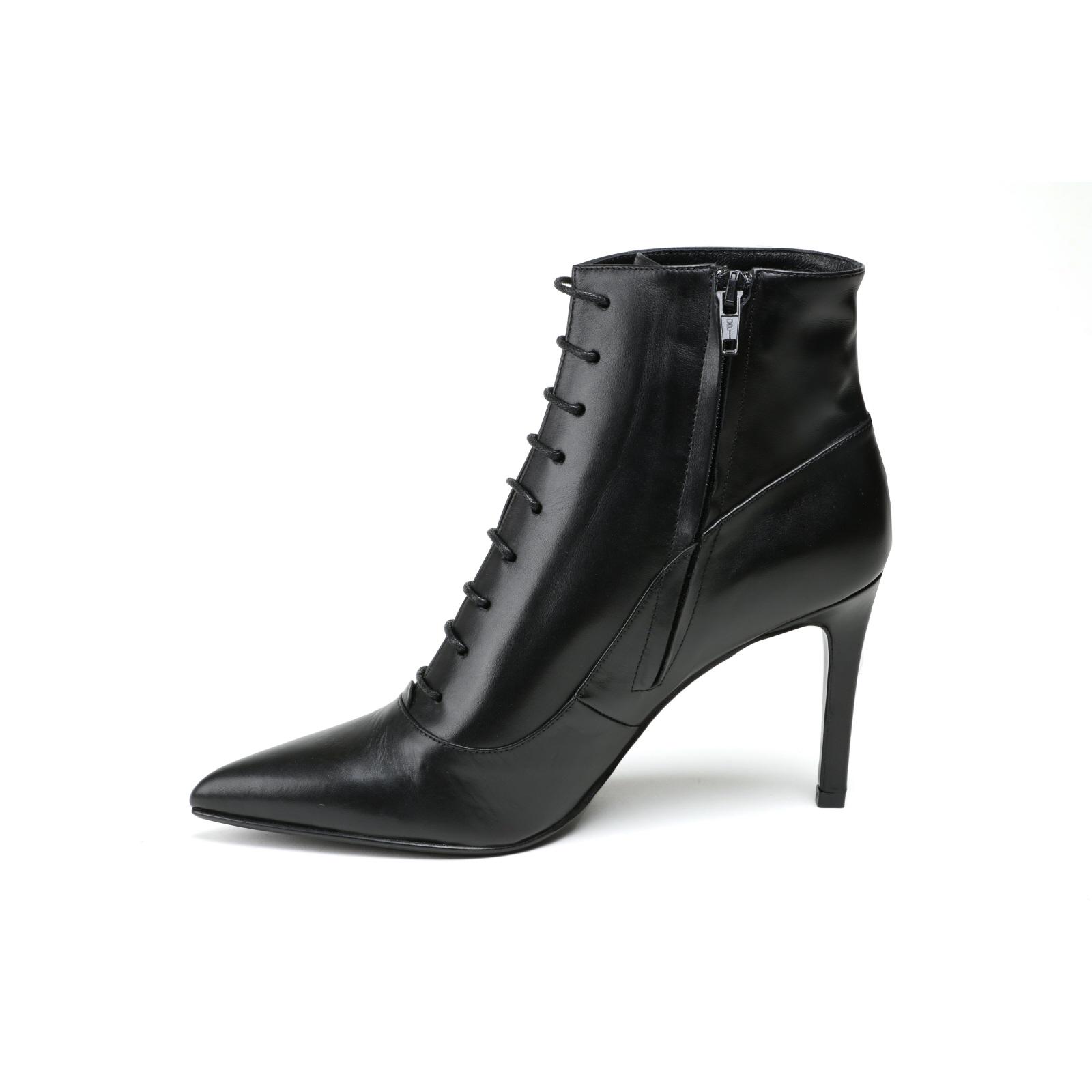 Damen Stiefelette Alberto Zago Elegant Gr.38 schwarz  Glattleder NEU Gr.38 Elegant d047ea