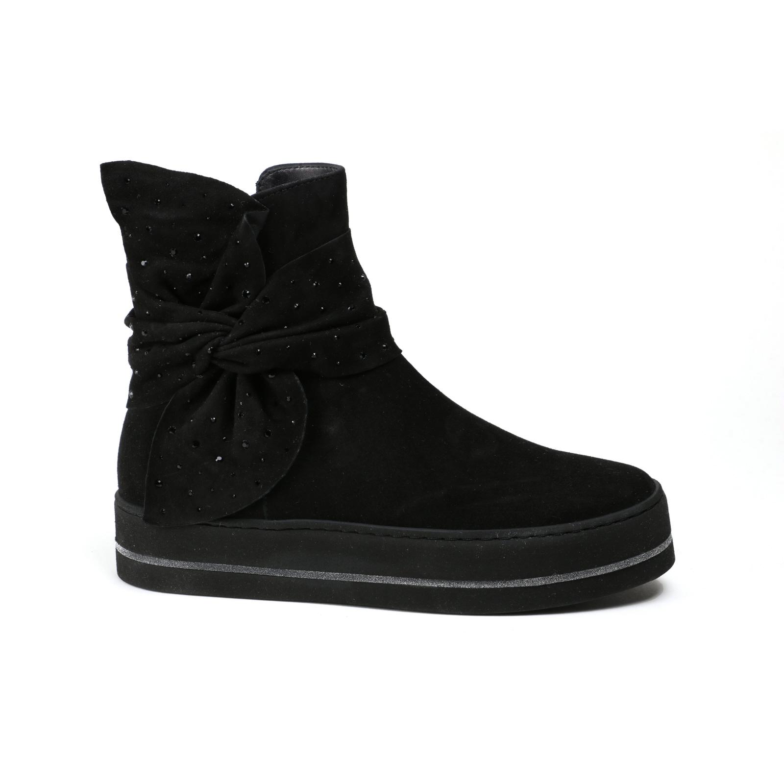 Señora botín nuevo Maripe 'mode negro velourleder nuevo botín talla 39,5 40e893