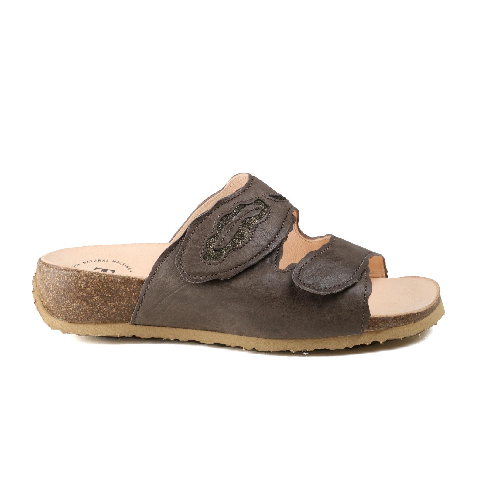 kvinnor kvinnor kvinnor Sandal tror MIZZI, Velcro gyttfärg Läder ny storlek 40  högkvalitativ äkta