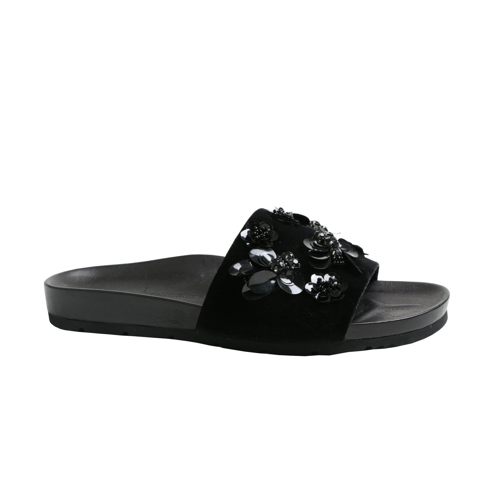 kvinnor Sandal &s &s &s modeable svart sammet ny storlek 37,5  spel