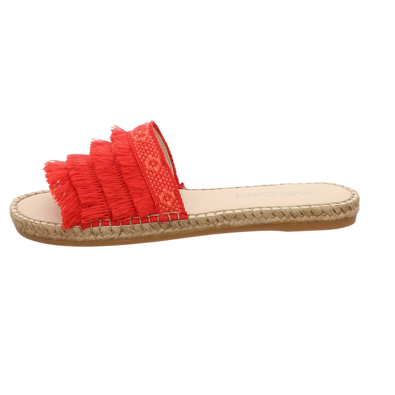 Womens Sandal MARCCAIN Espadrille RED LEATHER combined NEW Size 36